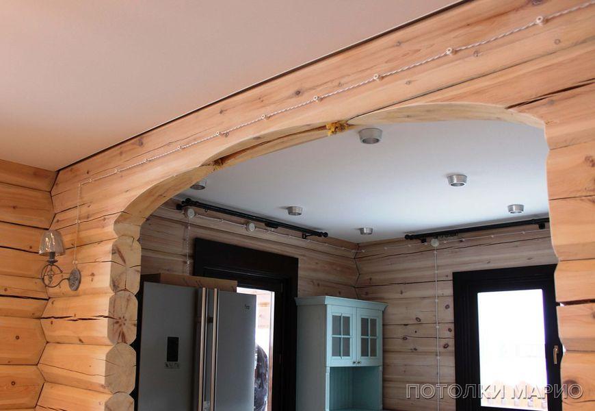 Белые тканевые потолки Clipso в деревянном доме